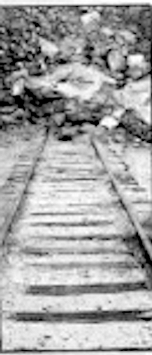 In the 1920s a rock avalanche closed 300 feet of track.