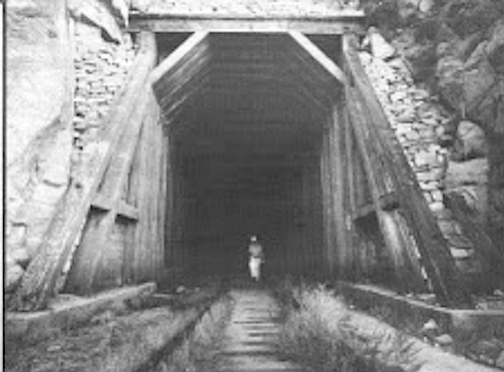 The wooden linings built through the tunnel are beautiful pieces of hand-built craftsmanship.