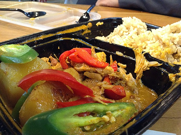 Half-eaten massaman curry