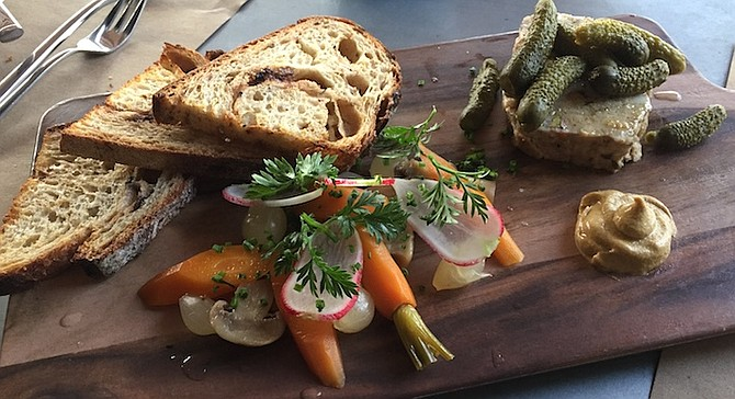 Pork pistacchio terrine with pickled veggies