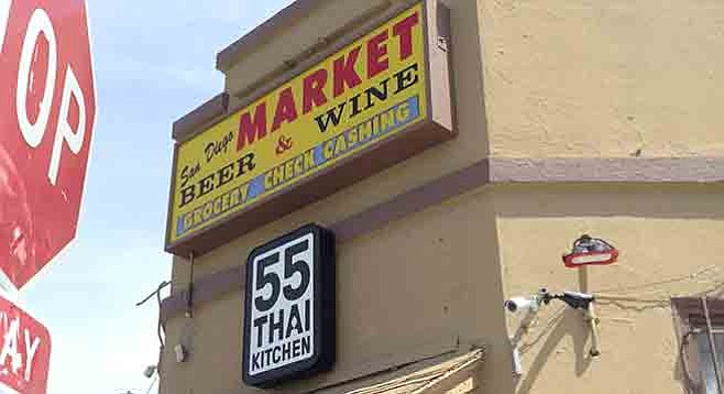 Thai 55's first location is hidden in the back of the market