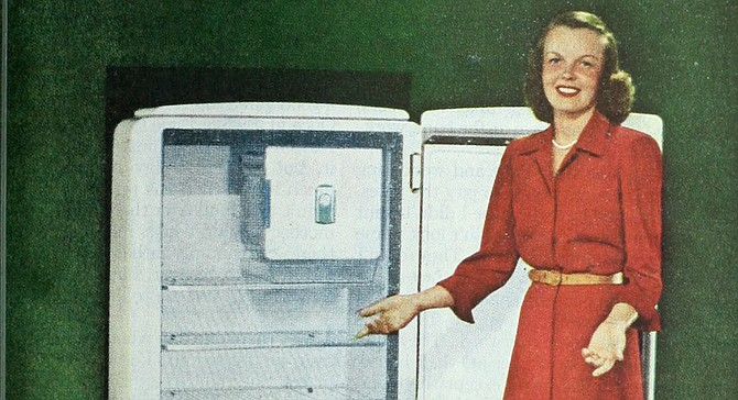 Unlike this woman, you live in a world where having a fridge full of food is an inconvenience