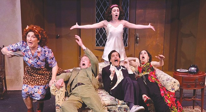 Noises Off: A fine example of each part sharing the stage and contributing to the whole.