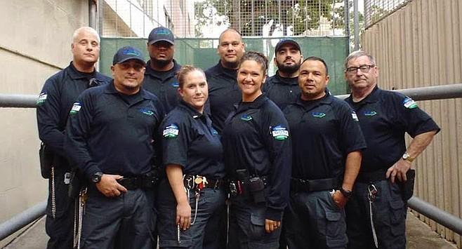 Geo crew at U.S. Marshall's office downtown San Diego