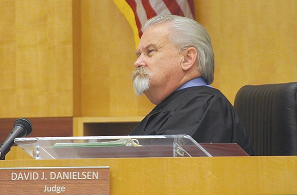 """David J. Danielsen, San Diego Superior Court judge, said """"He certainly seems dangerous,"""" and he ordered Alan Sasseen to stand trial on four felony counts."""