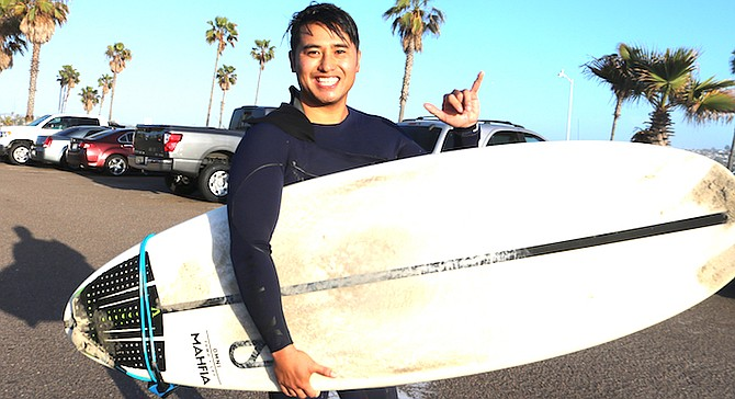 """Johnny V.: """"Luckily a bodyboarder saw me and said to kick out."""""""