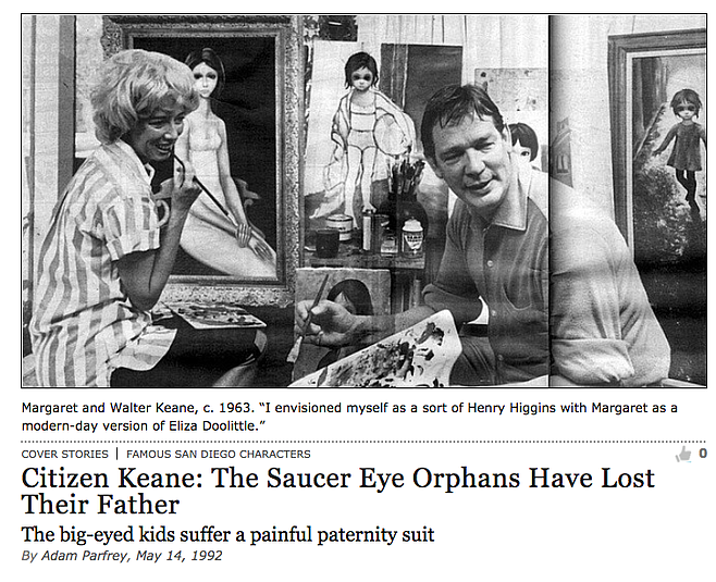 Parfrey's Walter Keane cover story in the Reader