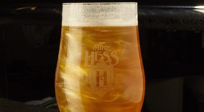 Hess glitter beer. Until now I'd say Hess's faddiest beer was a pumpkin stout.