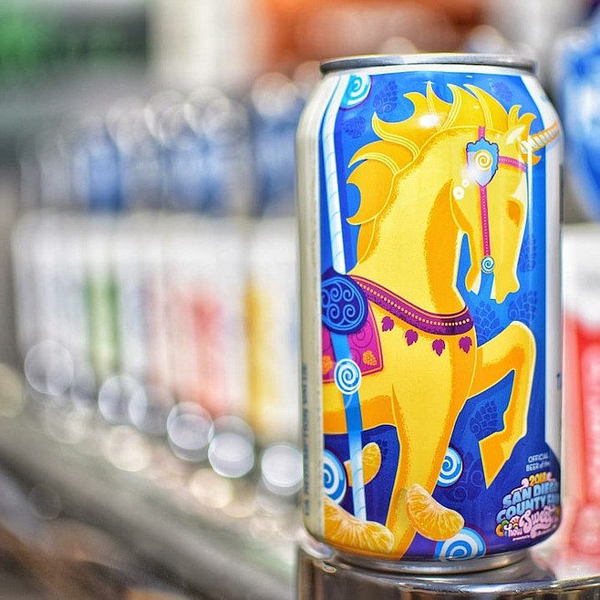 Unicorn Dust is glittery version of Tangerine A-Fair, this year's official beer of the San Diego County Fair.
