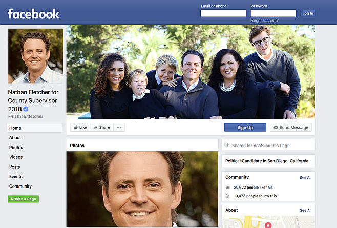Facebook page with Fletcher and Gonzalez children