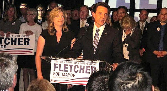 Mindy and Nathan Fletcher during his run for San Diego mayor