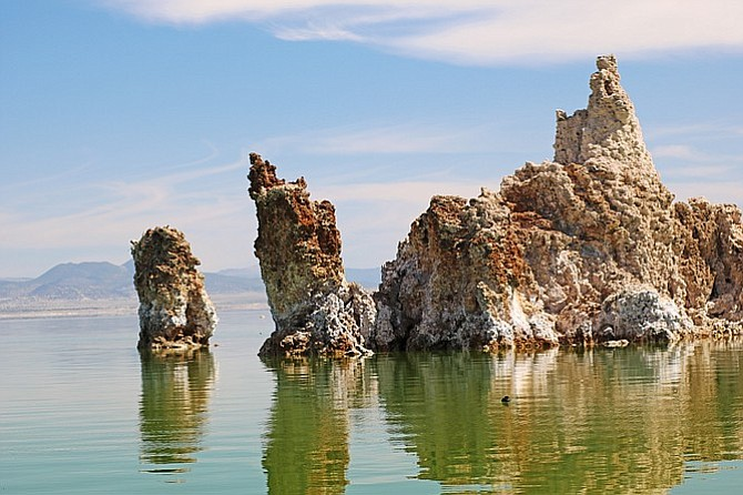 Mono Lake's tufa towers.