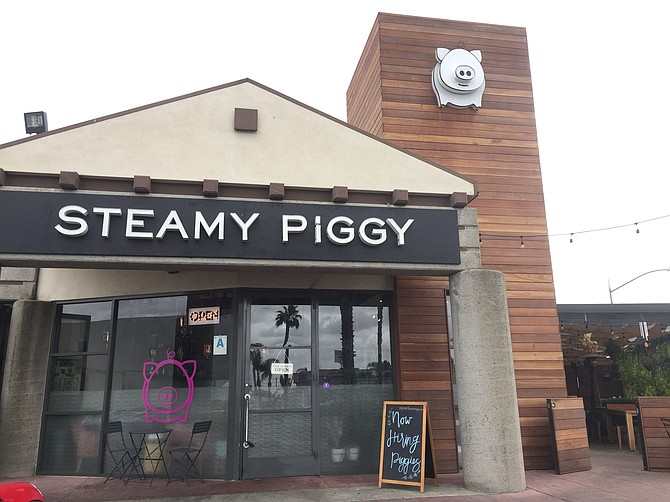Exterior of Steamy Piggy on Convoy
