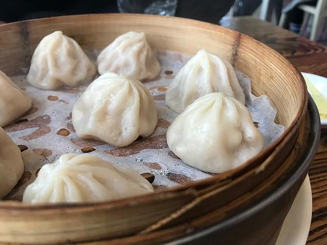 Freshly steamed Xiao Long Bao