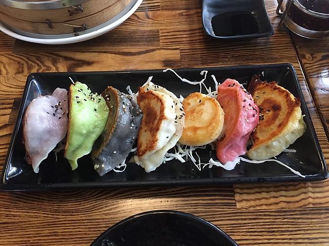 Assorted dumplings, a rainbow of flavors