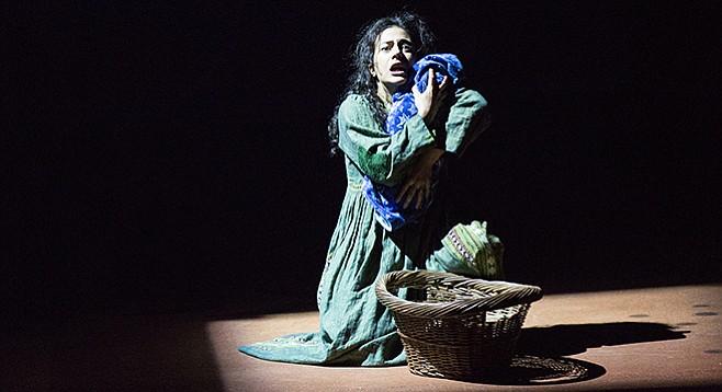 Nadine Malouf as Laila in A Thousand Splendid Suns at the Old Globe