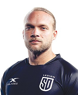 Nick Evans played semi-pro rugby in Seattle and overseas but moved here to support his girlfriend.