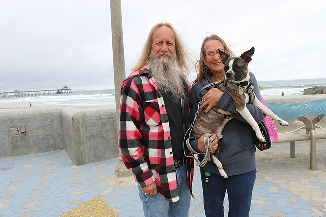"Greg and Roxy. ""I see how Imperial Beach has changed."""