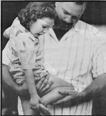 """Keith Gilliland and Jennifer: """"I think she looks like Shirley Temple. Her face. Her curls."""""""