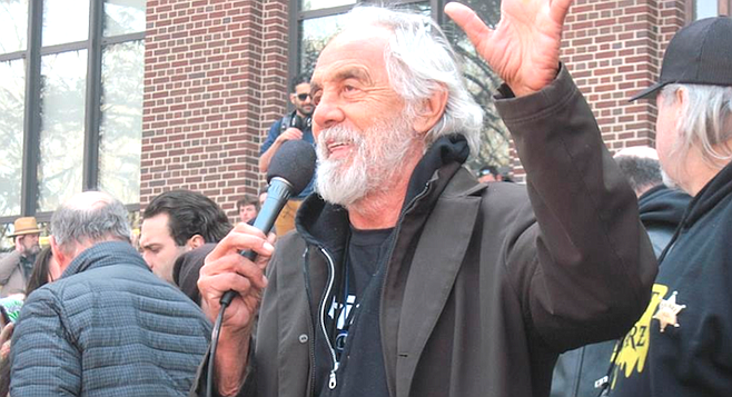 Tommy Chong at 2015 Hash Bash. Stanz's relationship with Chong did not exist.