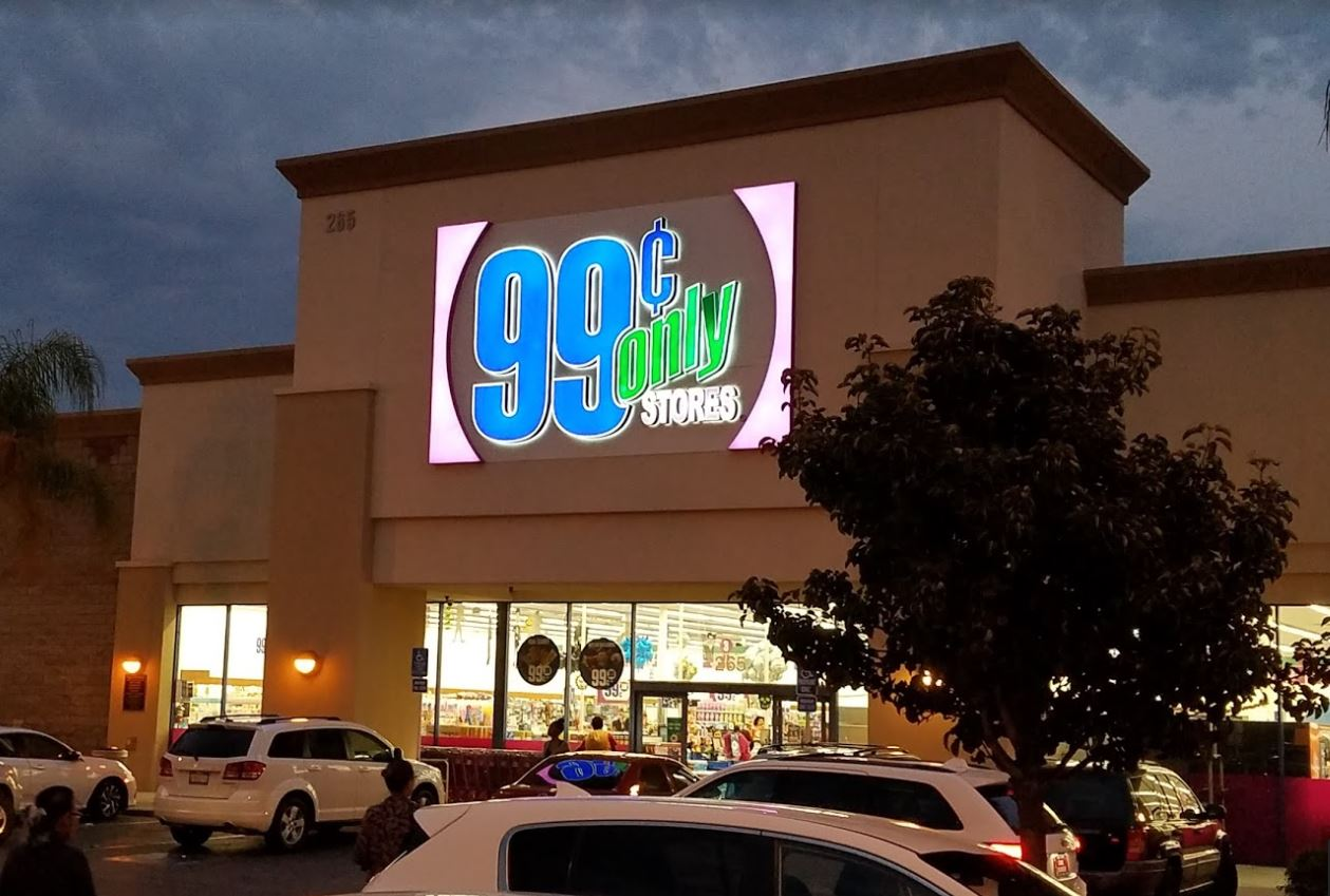 99 Cent Only store in Mountain View (photo from Google Maps).