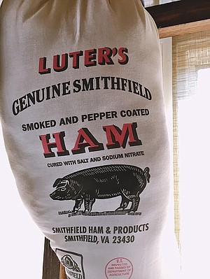 Country ham in Smithfield.