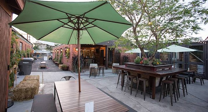 The drinking patio of Helix Brewing Co. in La Mesa - Image by Andy Boyd