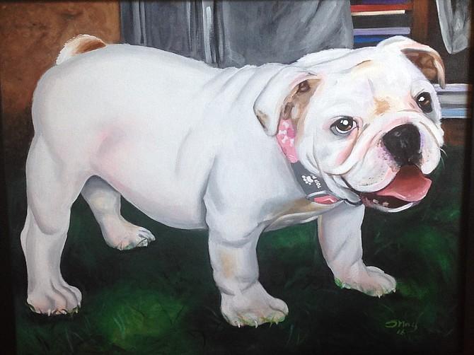 """""""Baby"""" pet portrait by artist W.B."""