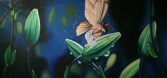 """The Fairy"" 5'X12' mural"