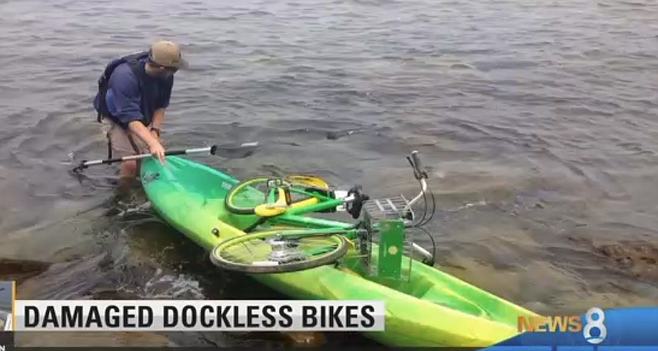 Rescue by kayak (Channel 8).