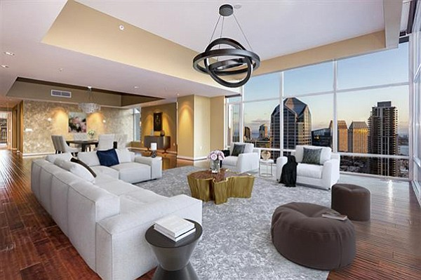 The living room, and the view