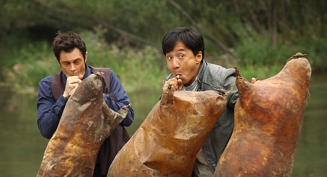 Johnny, Jackie, and the Three Little Inflatable Pigskins in Skiptrace.