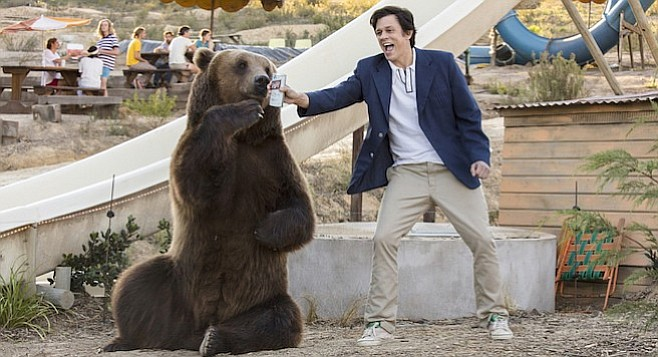In Action Point, Johnny Knoxville shows when you're out of Schlitz, you're out of bear.