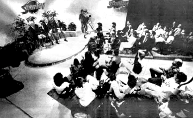The show is taped before a small audience in the station's studio off Ruffner Road in Clairemont.