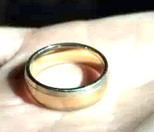 He gave his wedding ring to his buddy to safeguard.