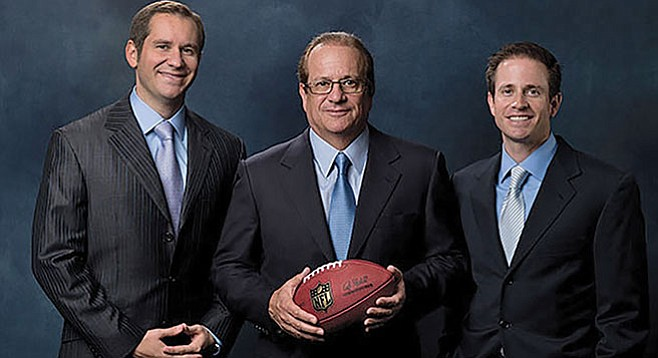 Spanos and sons. Sorry, San Diego haters of the Los Angeles Chargers.