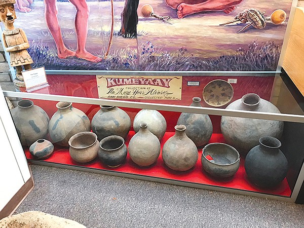 Heritage of the Americas Museum. Ancient Kumeyaay ollas (pots), surviving from 900-1200 AD.