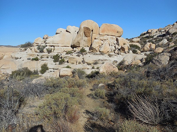 Huge boulders on the trail