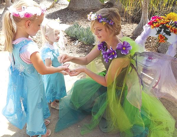 Take a Fairy Princess photo, decorate a magic mushroom, create a fairy baby and cradle.