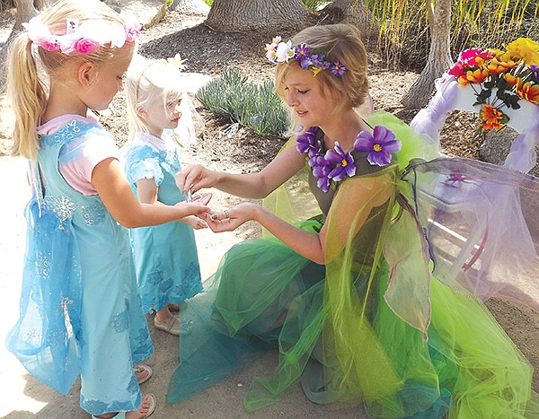 Take a Fairy Princess photo, decorate a magic mushroom, create a fairy baby and cradle.