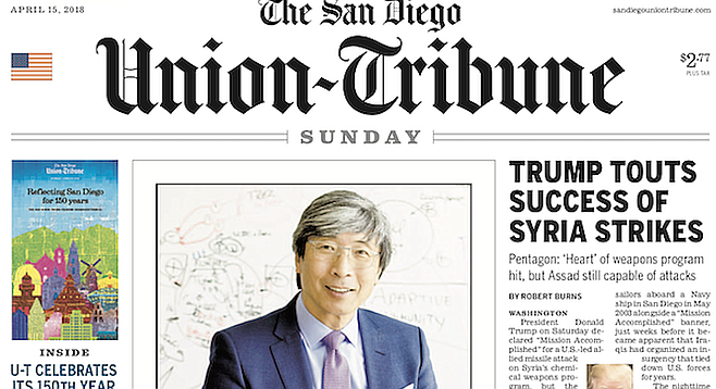 April 15  with photo of Patrick Soon-Shiong.