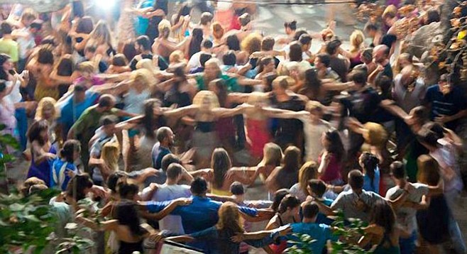 Dancing at the San Diego Greek Festival