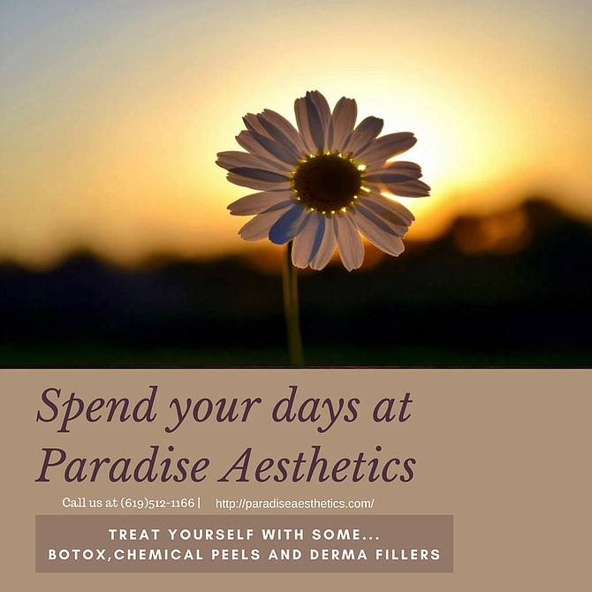 Spend your day at paradise Aesthetics.