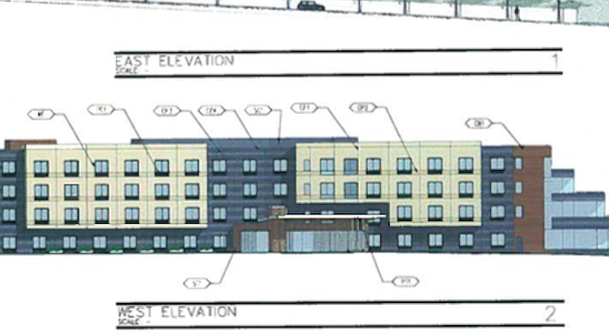 Proposed hotel — from planning commission staff report