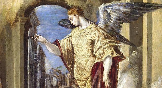 The Angel Gabriel from El Greco's Annunciation