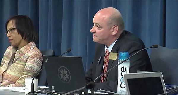 San Diego Unified board's Kevin Beiser told protestors the sex ed is state mandated.
