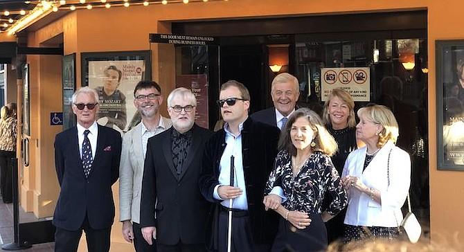 Derek Paravicini center. Composer Matthew King second from left.