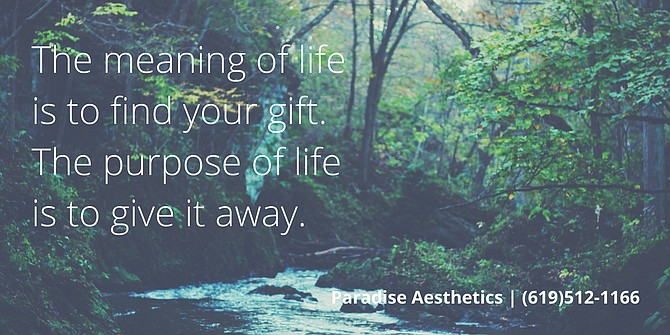 The meaning of life is to find your gift.The purpose of life is to give it away.
