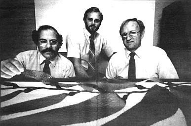 Kelco biologists Craig Barilotti, Dale Glantz, Ron McPeak