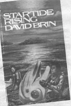 Brin's Startide's Rising, an imaginative epic about an intergalactic space flight hundreds of years in the future. The ship itself is crewed by humans and dolphins.